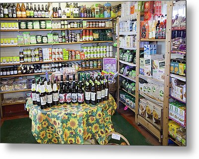Organic Farm Shop Display Metal Print by Ashley Cooper