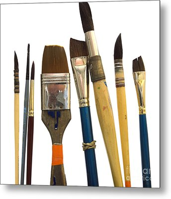 Paintbrush Metal Print by Bernard Jaubert