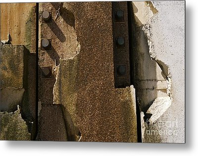 3 Peg Abstract II Metal Print by Sherry Davis