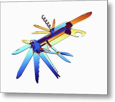 Penknife Metal Print by Alfred Pasieka