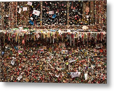 Pike Place Market Gum Wall In Alley Metal Print