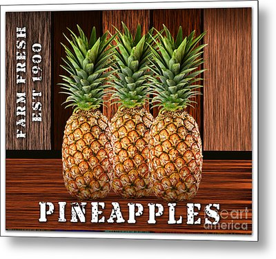 Pineapple Farm Metal Print
