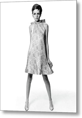 Portrait Of Twiggy Metal Print