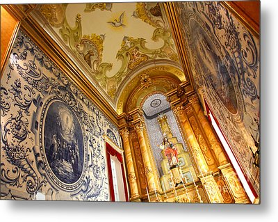 Portuguese Church Metal Print by Gaspar Avila