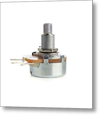 Potentiometer Metal Print by Science Photo Library