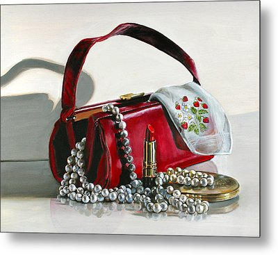Metal Print featuring the painting Pretty Woman by Gail Chandler
