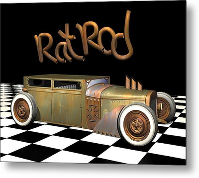 Rat Rod Sedan Metal Print by Stuart Swartz