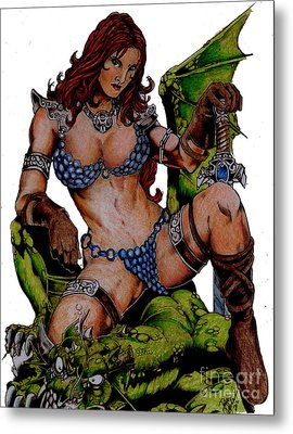 Red Sonja Metal Print by Bill Richards