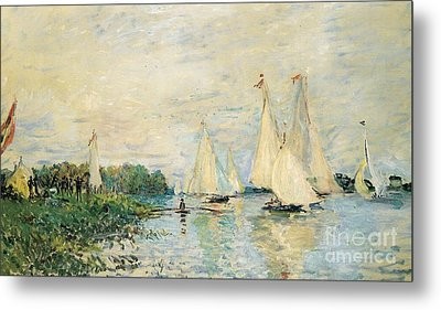 Regatta At Argenteuil Metal Print by Claude Monet