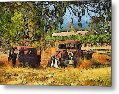Retired Relics Metal Print by Barbara Snyder