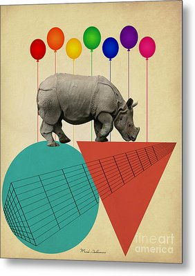 Rhino Metal Print by Mark Ashkenazi