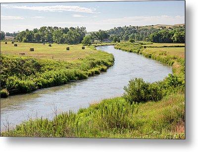 River In The Nebraska Sandhills Metal Print by Jim West
