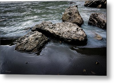 Rocks In The River Metal Print