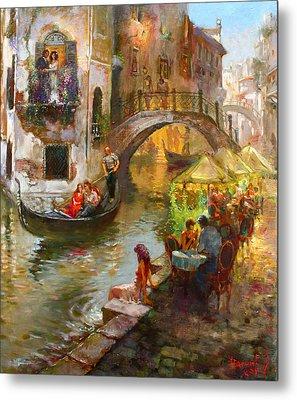 Romance In Venice  Metal Print by Ylli Haruni