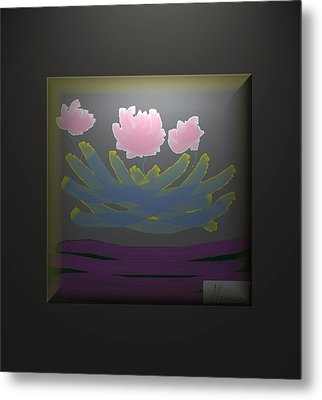 3 Roses Metal Print by Ines Garay-Colomba