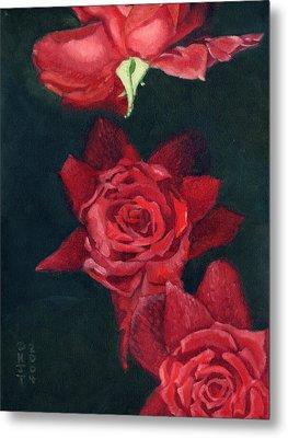 3 Roses Red Metal Print