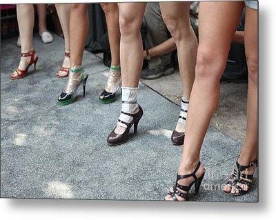 Running On Heels In Moscow Metal Print by Tanya Polevaya