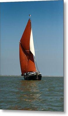Sailing Barge Metal Print by Gary Eason