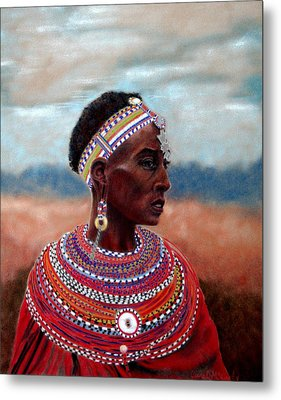 Samburu Woman Metal Print