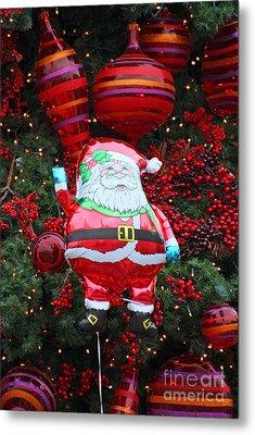 Santa Claus Balloon Metal Print