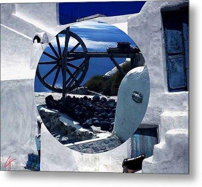 Santorini Island Greece Metal Print by Colette V Hera  Guggenheim
