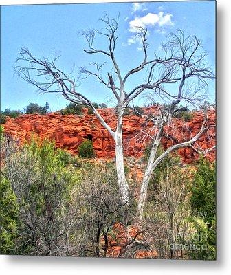 Sedona Arizona Dead Tree Metal Print by Gregory Dyer