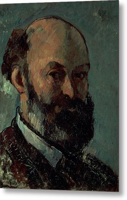Self Portrait Metal Print by Paul Cezanne