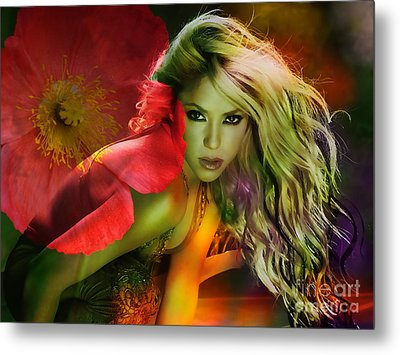 Shakira Metal Print by Marvin Blaine