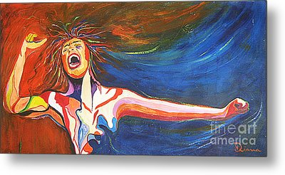 Metal Print featuring the painting Shout by Diana Bursztein
