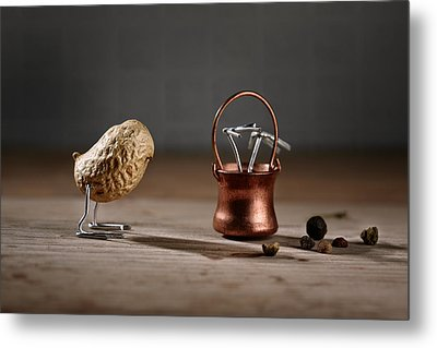 Simple Things -  Strange Birds Metal Print by Nailia Schwarz