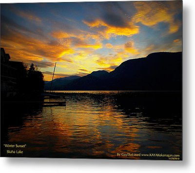 Metal Print featuring the photograph Skaha Lake Sunset by Guy Hoffman
