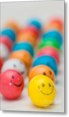 Smiley Face Gum Balls Metal Print