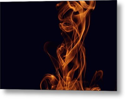 Smoke Metal Print by Marek Poplawski