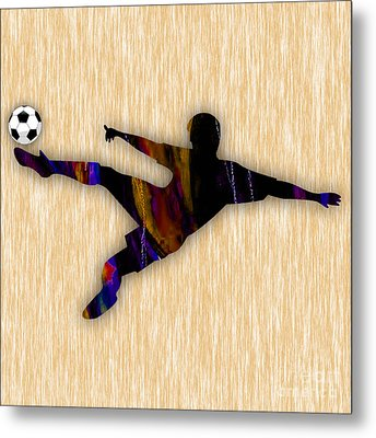 Soccer Player Metal Print by Marvin Blaine