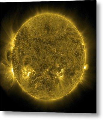 Solar Activity, Sdo Ultraviolet Image Metal Print