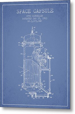 Space Capsule Patent From 1963 Metal Print