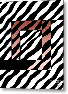 Metal Print featuring the drawing 3 Squares With Ripples by Joseph J Stevens