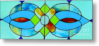 Metal Print featuring the photograph Stained Glass Window by Janette Boyd