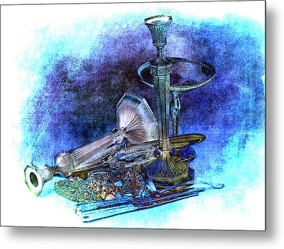 Sterling Silver Scrap Metal Print by Gunter Nezhoda