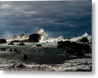 Stormy Seas And Skies  Metal Print