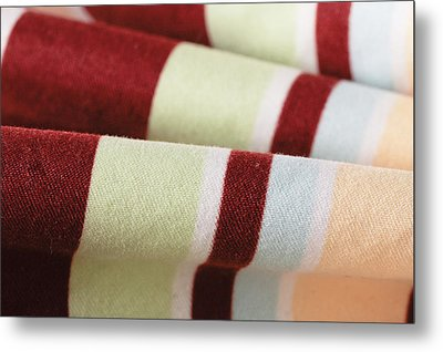 Striped Material Metal Print by Tom Gowanlock
