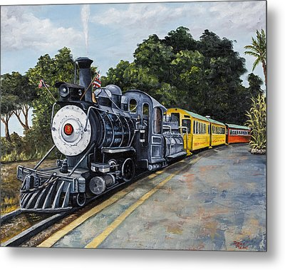 Sugar Cane Train Metal Print by Darice Machel McGuire