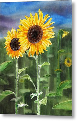 Sunflowers Metal Print by Irina Sztukowski