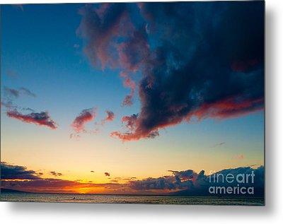 Sunset On Kaanapali Maui Hawaii Usa Metal Print