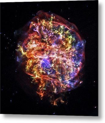 Supernova Remnant Metal Print by Nasa/cxc/sao