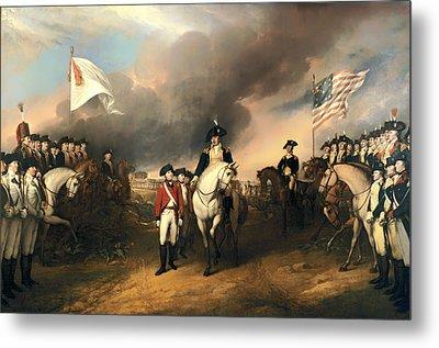 Surrender Of Lord Cornwallis Metal Print