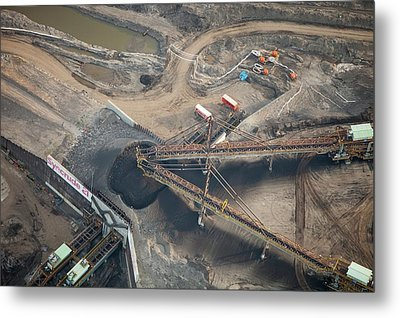 Tar Sands Deposits Being Mined Metal Print by Ashley Cooper