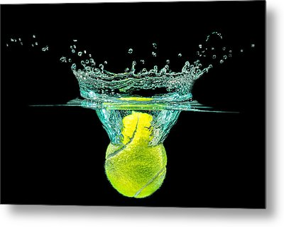 Tennis Ball Metal Print by Peter Lakomy