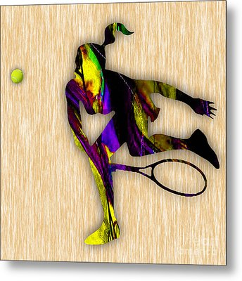 Tennis Match Metal Print by Marvin Blaine
