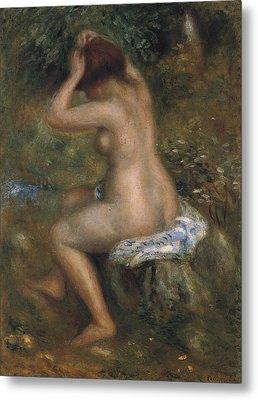 The Bathers Metal Print by Pierre-Auguste Renoir